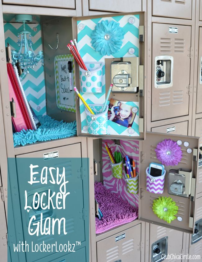 Easy Locker Glam for Tweens with LockerLookz!  Have your locker all decked out this year!    www.clubchicacircle.com #LLZgirlz  #ad