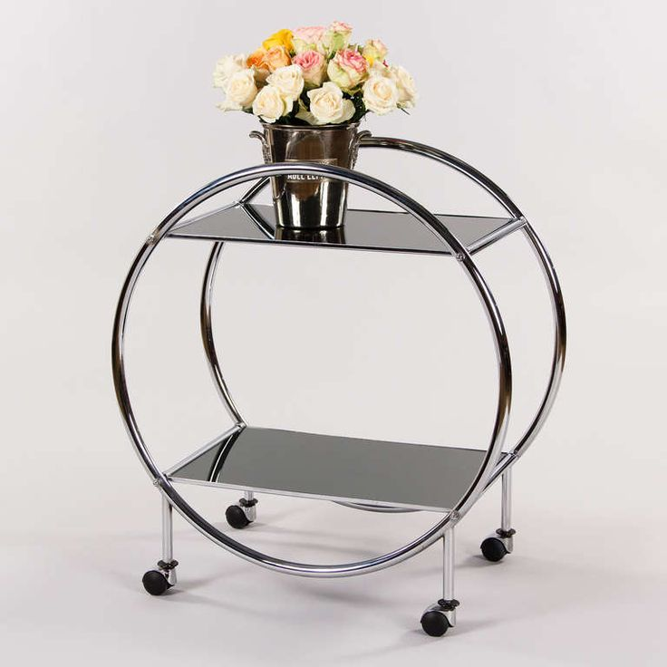 Best Vintage Chrome And Glass Bar Cart From A Unique Collection Of Antique  And Modern Bar.