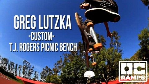 Greg Lutzka's Custom T.J. Rogers Bench - http://DAILYSKATETUBE.COM/greg-lutzkas-custom-t-j-rogers-bench/ - Greg Lutzka was so stoked on T.J. Rogers picnic bench that he wanted to make a custom one for his house! Lutzka makes is own engraving on the bench, paints it and then throws down a few tricks before the day is done! Go to OCramps.com to check out all the signature series obstacles!  Please visit - bench, custom, greg, Lutzka's, rogers, T.J.