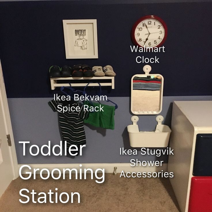 Montessori inspired toddler grooming station IKEA products