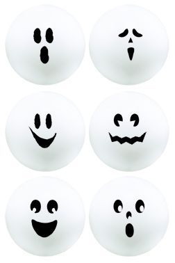 ghost ping pong balls yahoo image search results - Halloween Ping Pong Balls