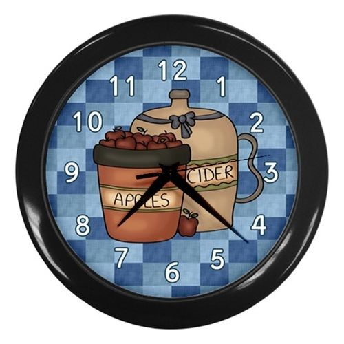 Country Apple Cider Wall Clock