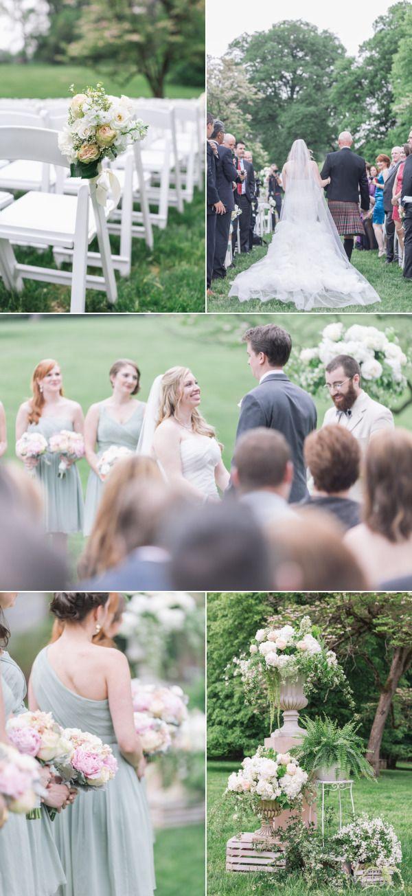 Elegant Garden Wedding at Lyndhurst Castle – Style Me Pretty