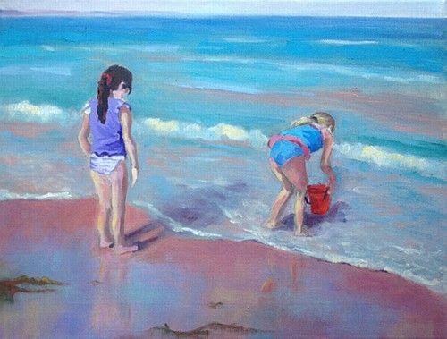 "Jane Meyler ""Sunshine Shadows"" #beach #sunshine #art #waves #painting #DukeStreetGallery"