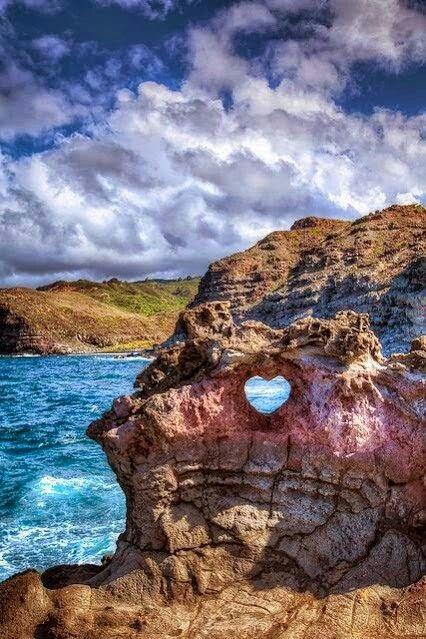 Heart rock, Maui