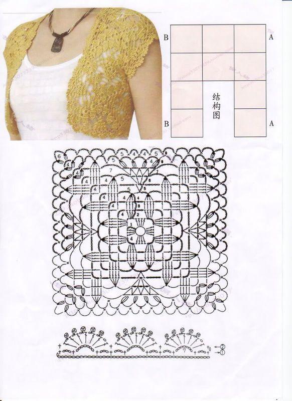 Pin Modele Crochet Un Bolero En Espagnol N 3 Mise A Jour on Pinterest