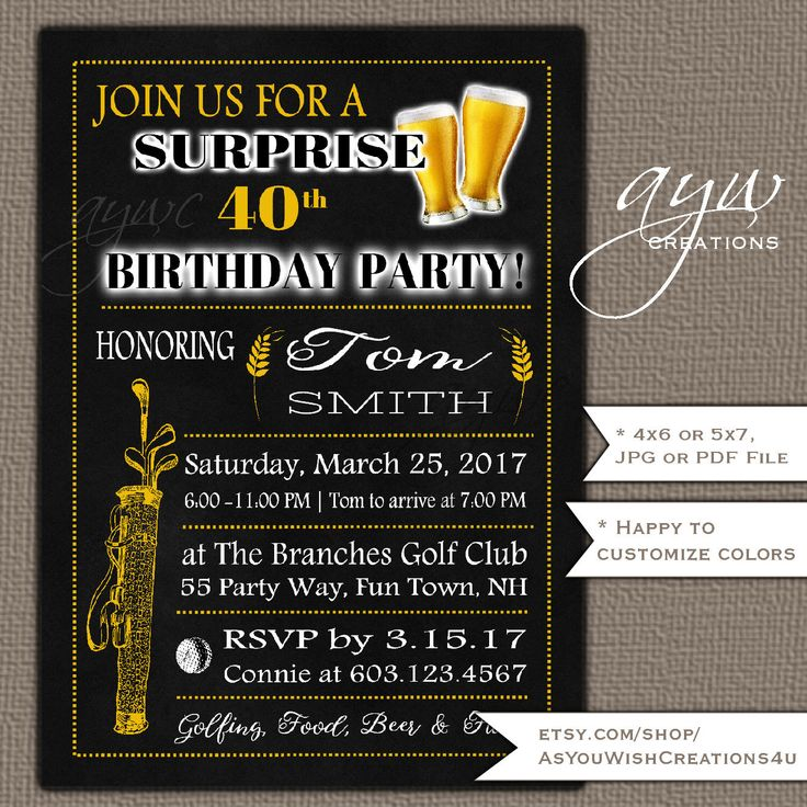 108 best Cheers and Beers Birthday Party Invitations for Men - Beer ...