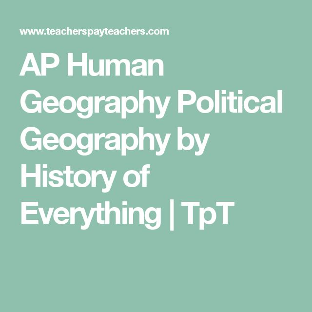 AP Human Geography Political Geography by History of Everything | TpT