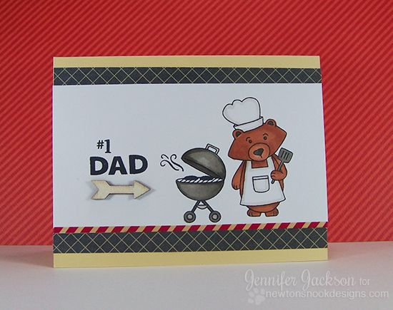 Fathers Day Card | Winston's BBQ Stamp set by Newton's Nook Designs