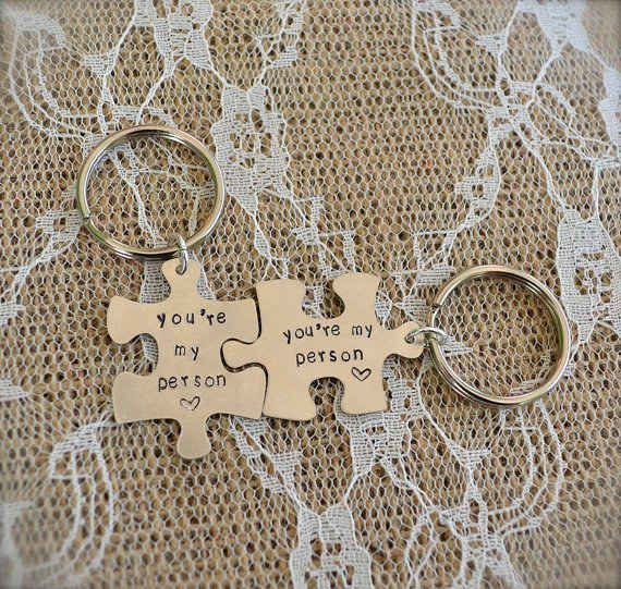 """""""You're my person"""" puzzle keychains, $18"""