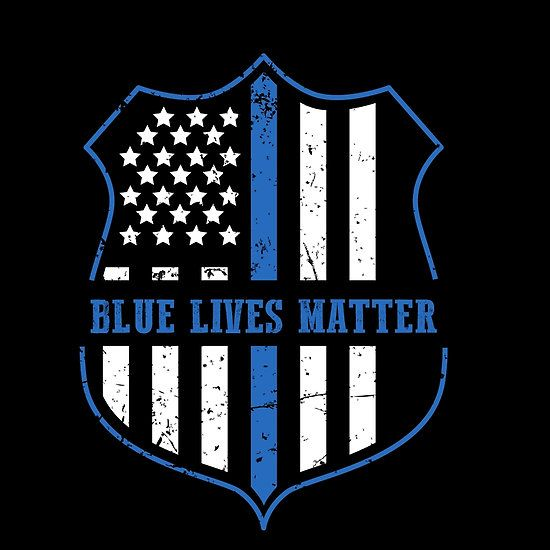 Police and Law Enforcement Blue Lives Matter Cool