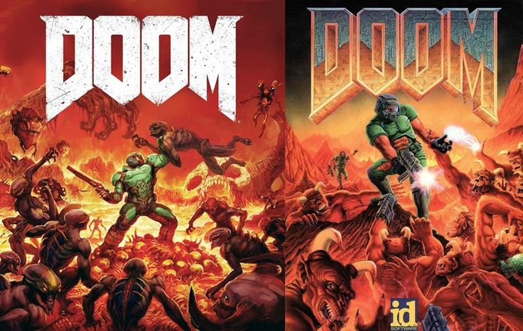Box Art of Doom: 2016 and 1993