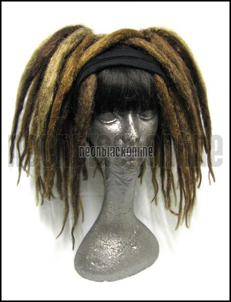 Dread falls  Brown and blonde natural dreadlock by NeonBlackOnline