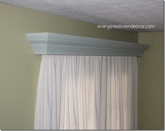 how to make a wooden valance box