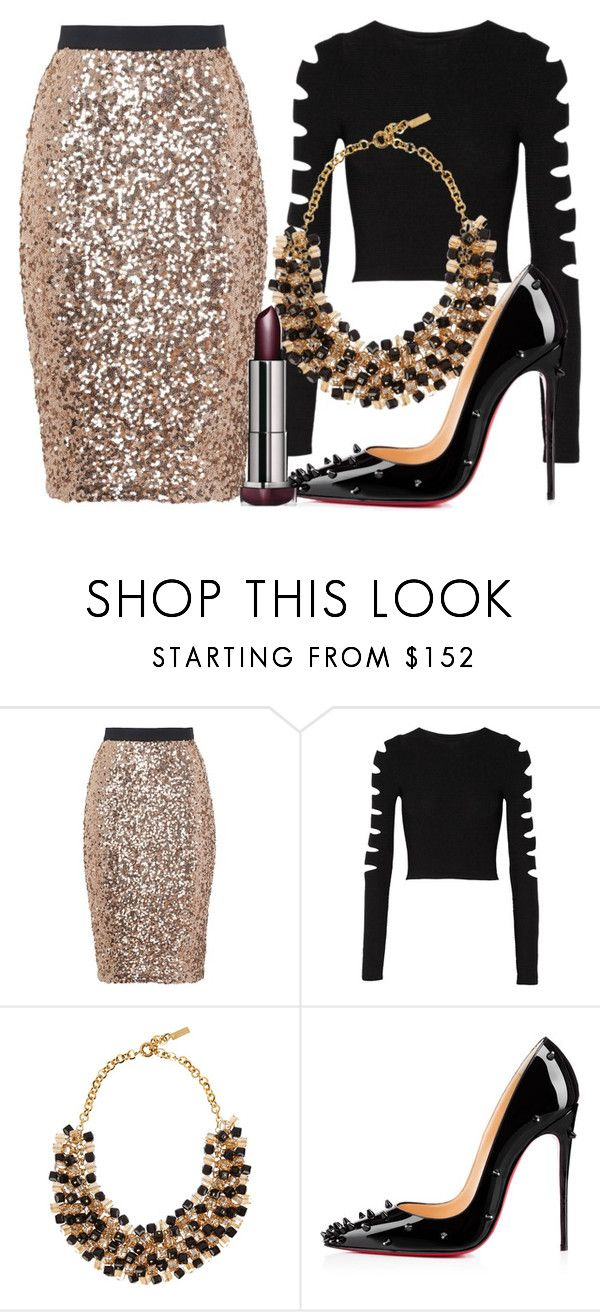 """Untitled #471"" by rocksolana ❤ liked on Polyvore featuring French Connection, Cushnie Et Ochs, Etro and Christian Louboutin"