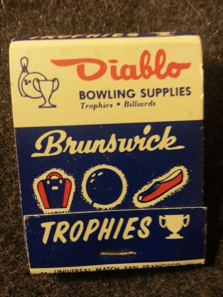 Vintage DIABLO BOWLING SUPPLIES BRUNSWICK Pleasant Hill