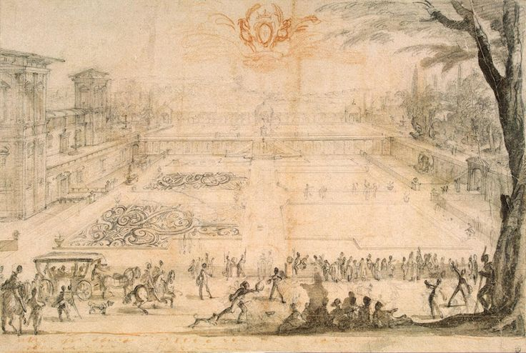 Drawings by Jacques Callot - Parterre at Nancy, 1625