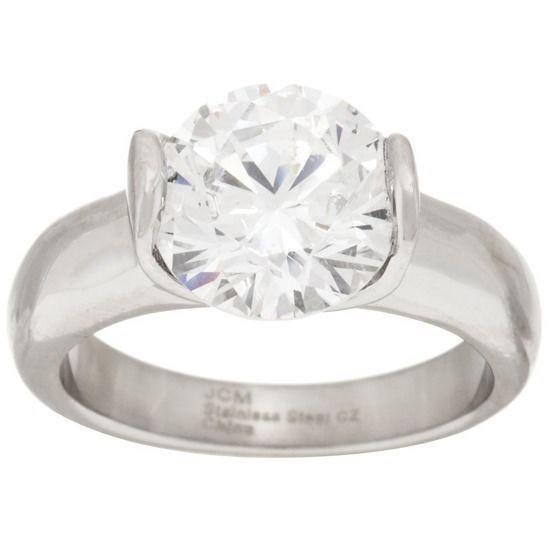 Round Cut Diamond 14K White Gold Over Solitaire Ring Size 7 #SteelbyDesign #Solitaire #EngagementWeddingAnniversaryMothersDay