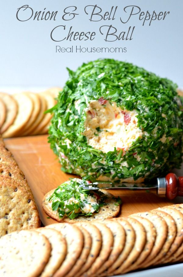 Onion & Bell Pepper Cheese Ball   Real Housemoms   This is gone so fast when I have friends over.