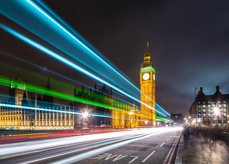 Westminster Light Trails, London, England