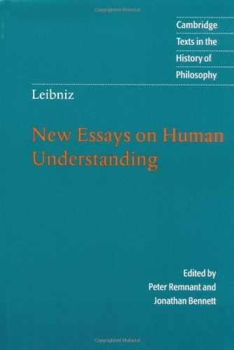 gottfried leibniz new essays on human understanding Leibniz new essays on human understanding - let us take care of your master thesis essays & researches written by top quality writers receive the necessary paper.