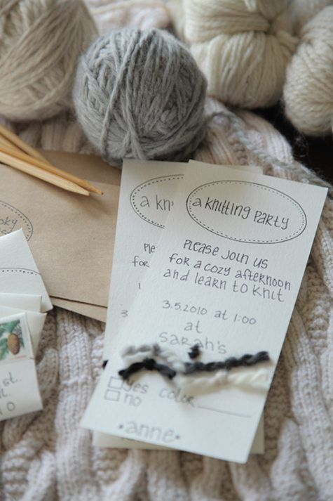 Want to teach some friends how to knit? Throw a knitting party! Follow this guide from Design*Sponge.@Meghan Cannon-Johann