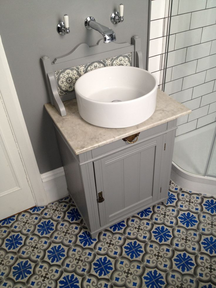 Adapted Victorian Marble Topped Washstand A Junk Shop Find Arc Taps From C P Hart Bespoke