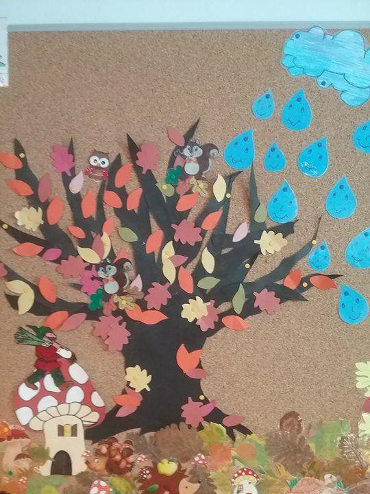 Χάρτινο φθινοπωρινό δέντρο.