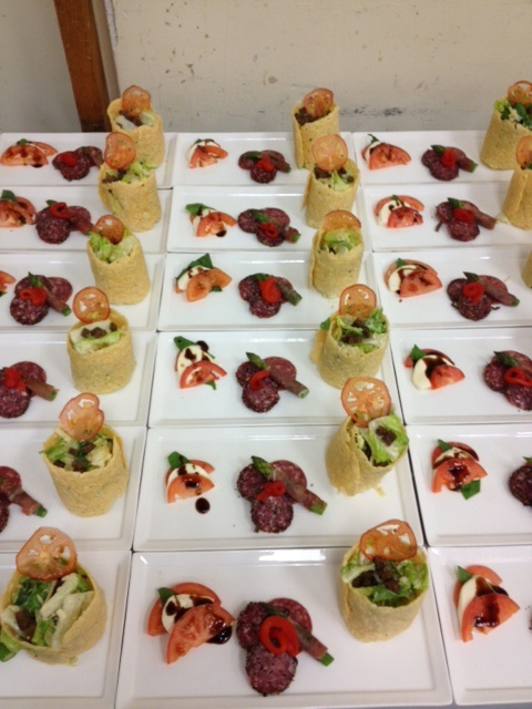 First course trio by @Blue Plate Catering Chicago