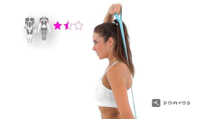 Exercice 3 sur les triceps - Elastiband - Domyos