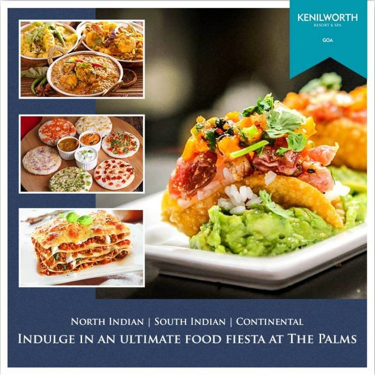 Tantalize your taste buds by indulging into an ultimate food fiesta only at The Palms.  #KenilworthHotels #ThePalms #FoodFiesta #Hospitality #Luxury #Spa #Resort #Goa