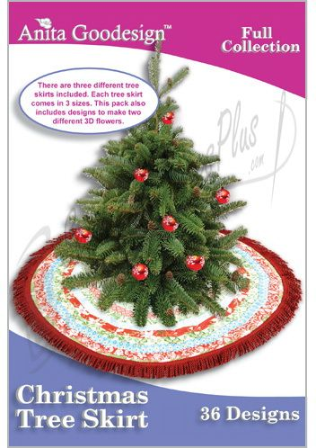 embroidery designs chistmas 3 different tree skirts included comes in 3 sizes