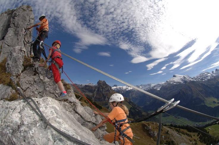 Experience different levels of #ViaFerrata  excitement in #Brunni #Engelberg via Brunni Engelberg