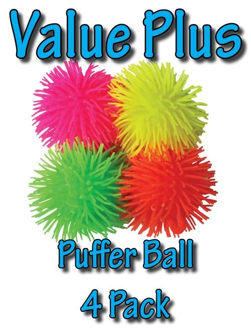 SensoryTools.net Australia - Puffer Ball - 12.5cm - Value Plus (4 pack)