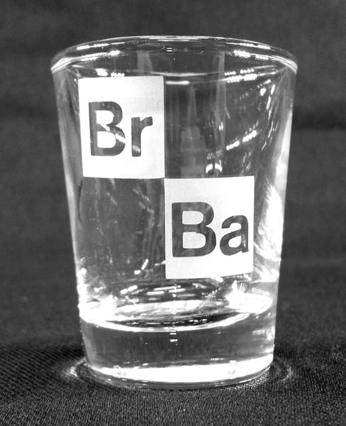 Breaking Bad Logo Etched Shot Glass | Etched Glass Designs