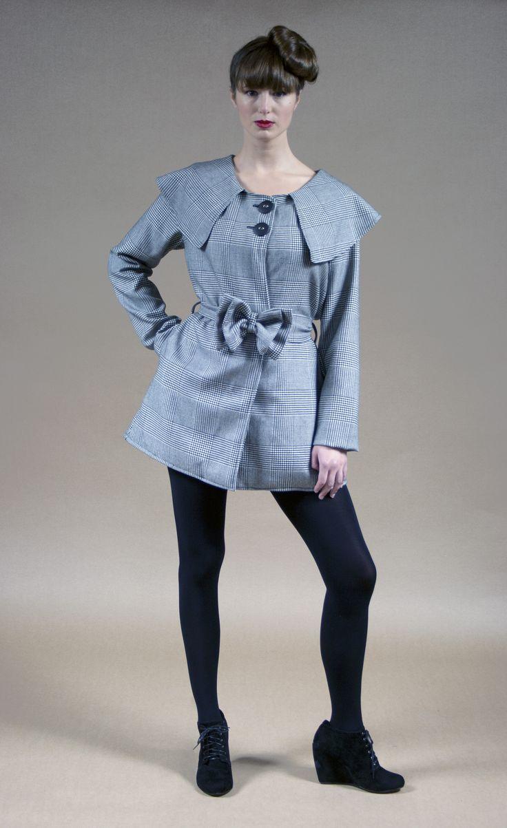 Bea Coat Houndstooth Tartan