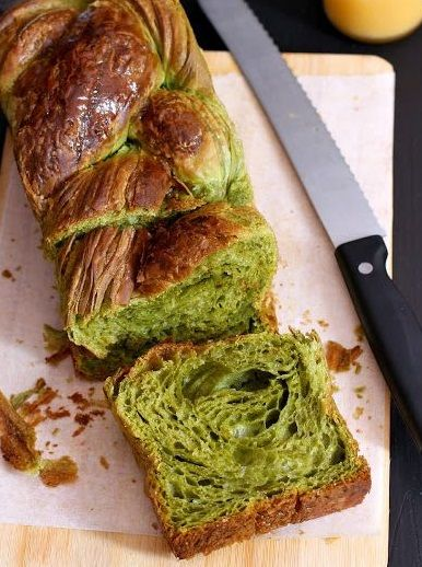 "MATCHA GREEN TEA ""CROISSANT DOUGH"" LOAF [mybarecupboard]"