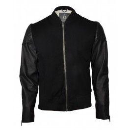 BOLONGARO TREVOR VARSITY JACKET BLACK/BLACK - Jackets and Coats - Menswear