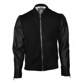 BOLONGARO TREVOR VARSITY JACKET BLACK/BLACK - Jackets and Coats - Menswear