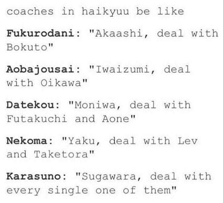 Haikyuu!! -  Team mums