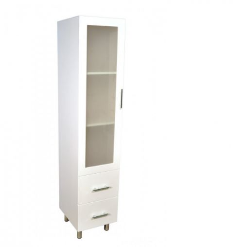 New Tall White Storage Cabinet with Doors