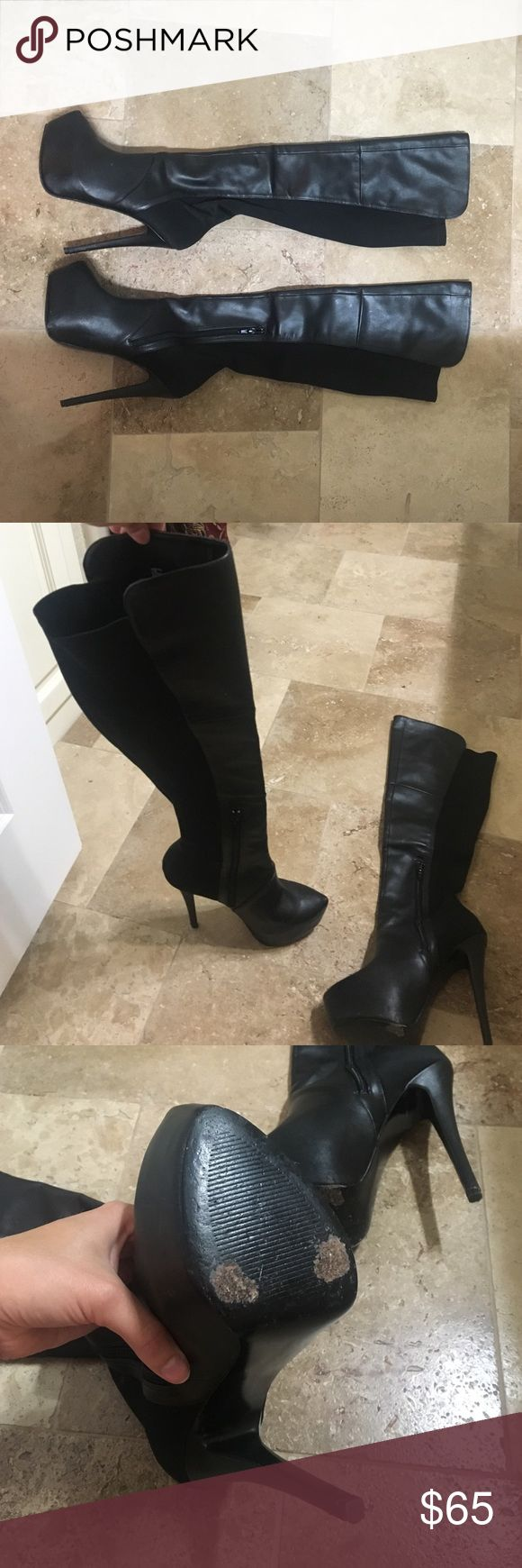 Over the knee black boots Over the knee black boots (high pumps) Steve Madden Shoes Over the Knee Boots