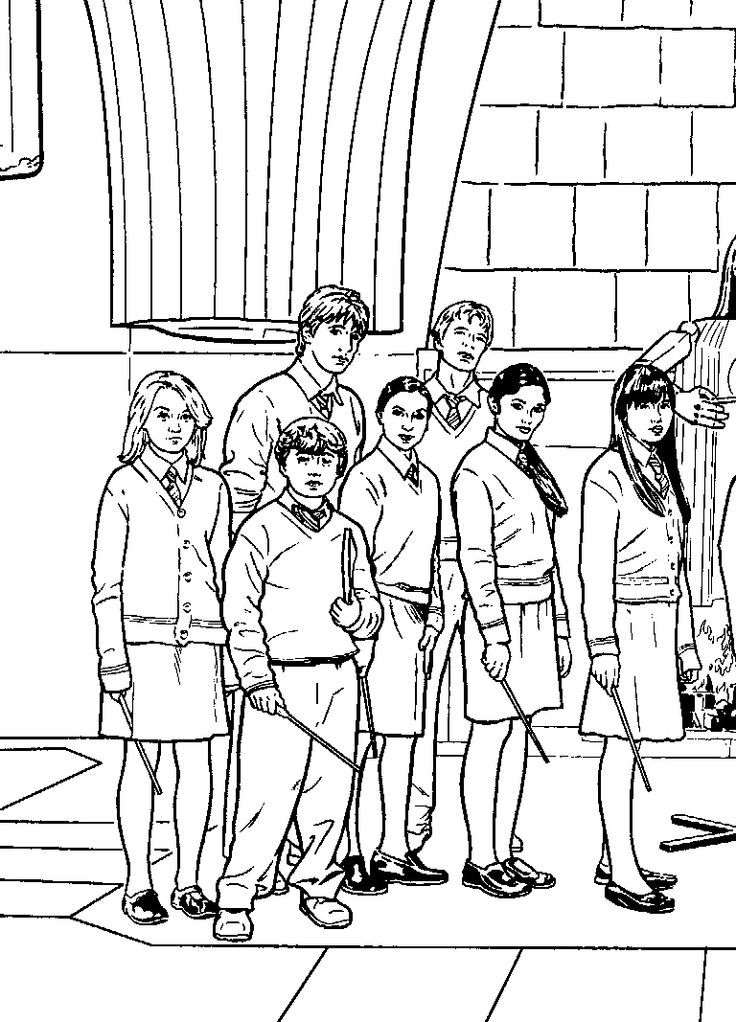 harry potter movie coloring pages - photo#16