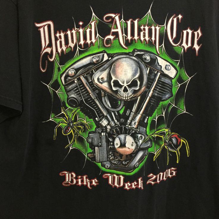 David Allan Coe World Tour Bike Week Concert T-Shirt 2XL Double SIded Rare  #Hanes #GraphicTee