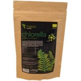 Chlorella Pulbere Ecologica/BIO 150g  Chlorella Pulbere Ecologica/BIO 150g - Niavis   Chlorella are un conţinut bogat de proteine 60% şi vitamine incluzând porţii generoase de vitamina B12, B2(Riboflavina) şi vitamina E.