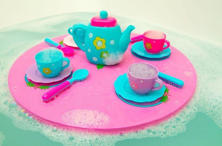Bath Time Tea Set Floating Table Alphabet Indoors Outdoors Toddler Girl Kid Toys