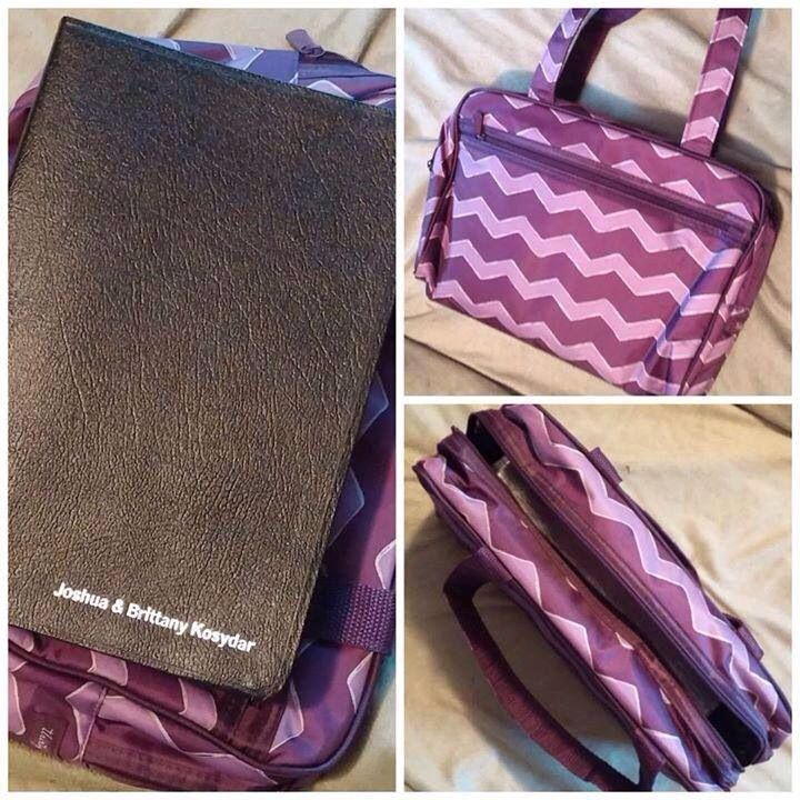 Thirty-One Cosmetic Bag ... Use it to carry your Bible. :)