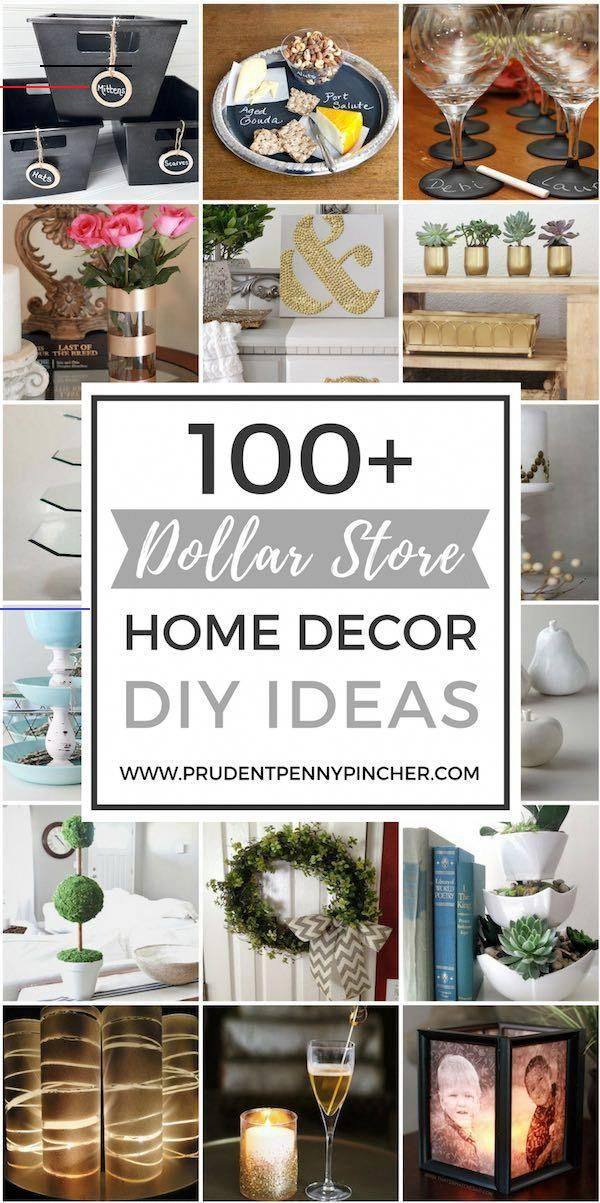 Decorate For Less With These Dollar Store Diy Projects Here Are Some Creative Decorating Ideas That Use In 2020 Ideen Zum Selbermachen Fur Zu Hause Dekor Zuhause Diy