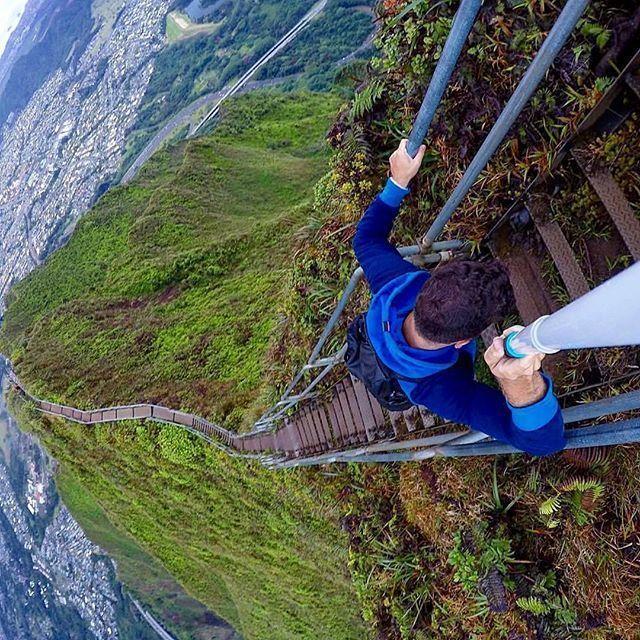Climbing the Haiku Stairs in Hawaii