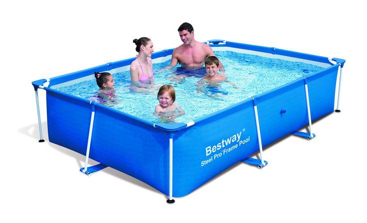 Piscine Rectangulaire Splash Frame Pools Bleue au meilleur prix chez - Lekingstore! - LeKingStore